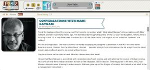 Book review for Paste - Conversations with Mani Ratnam 1