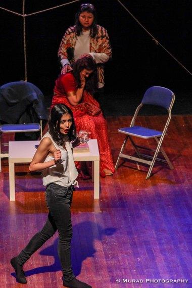 From front to back: Eela Muhaimin, Jesmin Chowdhury and Sabreena Zareen Laboni (Photo: Murad Chowdhury